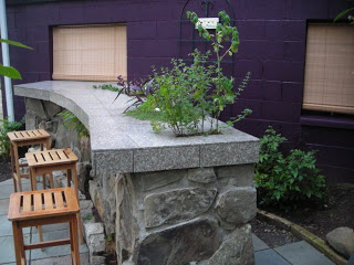 Outdoor Bar With Planting